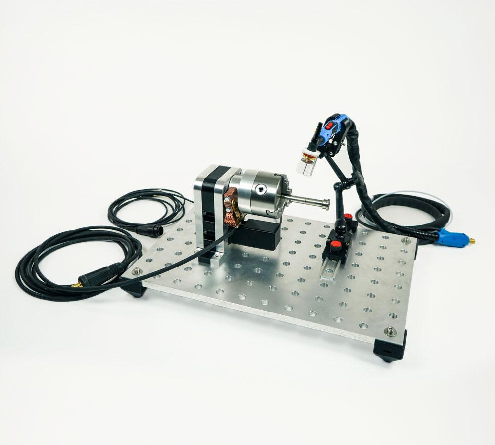 TURN-100 System - Drehvorrichtung zum Orbitalschweissen - Turn Table for Orbital Welding