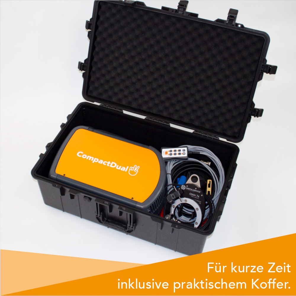 CompactDual Aktion mit Koffer